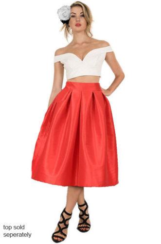 50 s 60 s Estilo Midi Saias Das Mulheres Do Vintage Outono Bolsos Plissados Além Disso sólidos Tamanho XXS-7XL vestido de Baile Do Partido Saia 2016