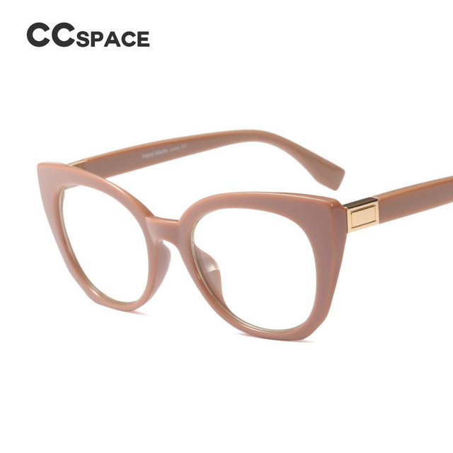 de8128159bea 45569 Cat Eye Glasses Frames Women Vintage CCSPACE Brand Designer Optical  EyeGlasses Fashion Eyewear Computer Glasses