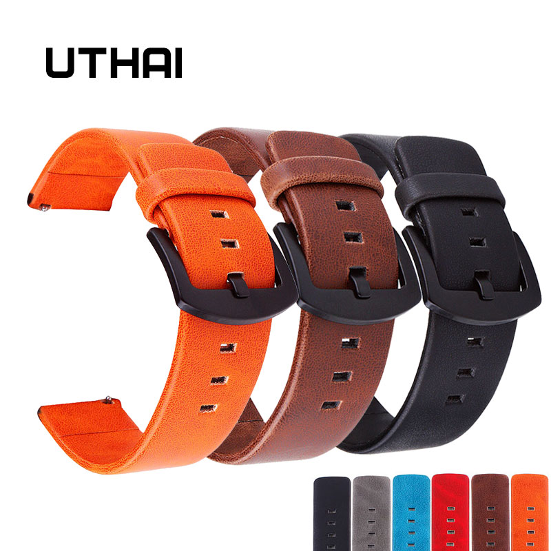 UTHAI P16 20mm Watch Strap Retro Leather Watch Strap 22mm Watch Band 18-24MM Watchbands