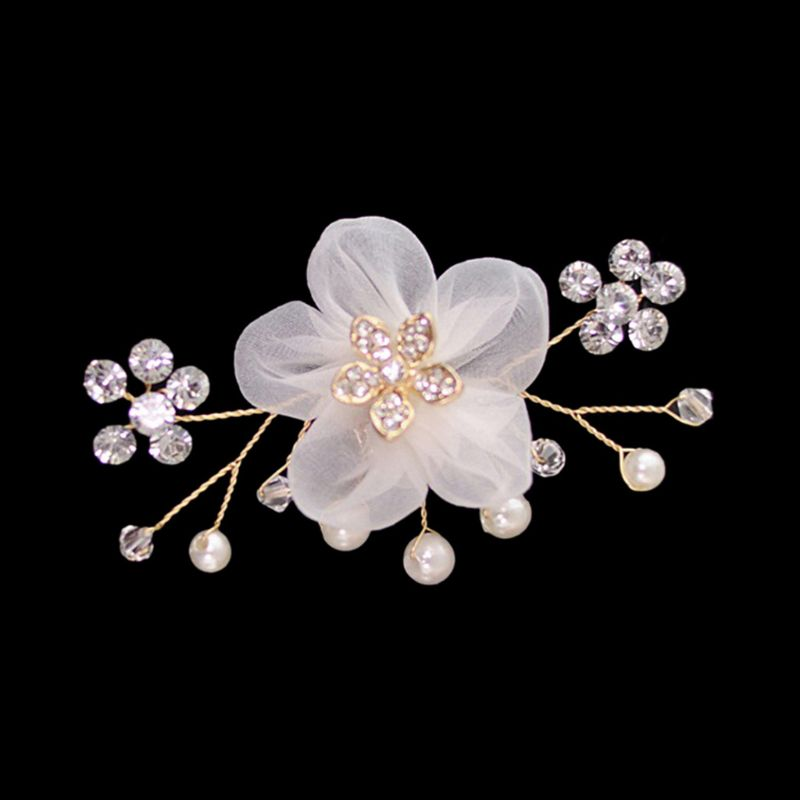 Elegant Shoe Clip Floral Simulated Pearl Mini Decoration DIY Women Sandals Charms Clothing Flower Clips Shoes Buckle Accessories