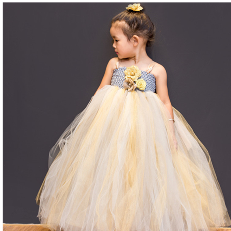 2019 Girls Princess Tutu Dress Wedding Ceremony Gentle Tender Dresses For Kids 2 3 4 5 6 7 8 9 10 11 12 13 14 Y Birthday Party