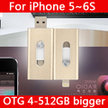 Hot Metal Pendrive 16 GB 32 GB 64 GB Rayo Controlador de Lápiz Otg usb flash drive de 128 gb 512 gb 1 tb 2 tb para iphone 5/5s/5c/6 s/6 plus/ipad