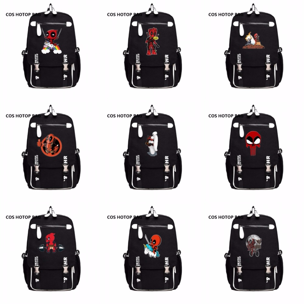 Deadpool Marvel Comics Super Hero Movie Civil War School Bags Men Rucksack Mochila Laptop Bag Backpacks shoulder crossbody bags victorian america and the civil war