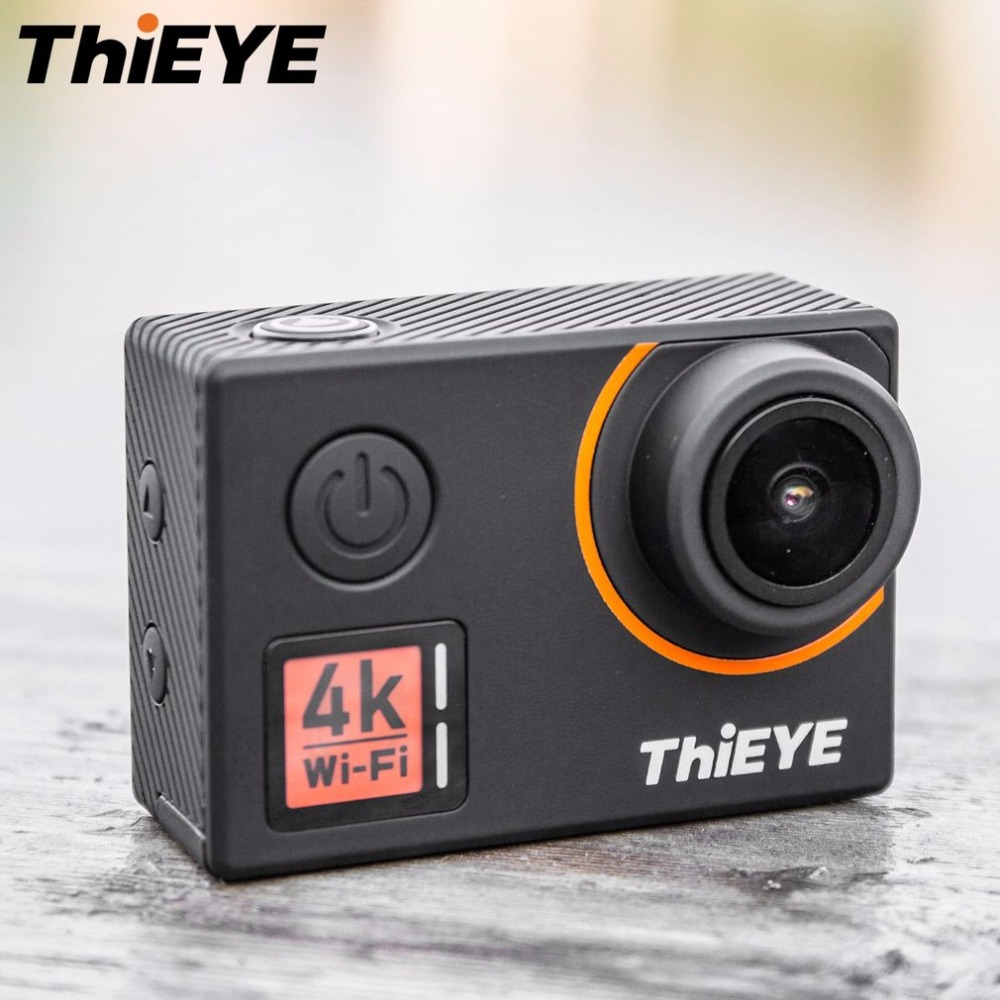 цена на ThiEYE T5 Edge 4K WiFi Action Camera 170 Degree Wide Angle Lens 2 LCD Cam 1080P HD Sports Camera Support Voice Remote Control