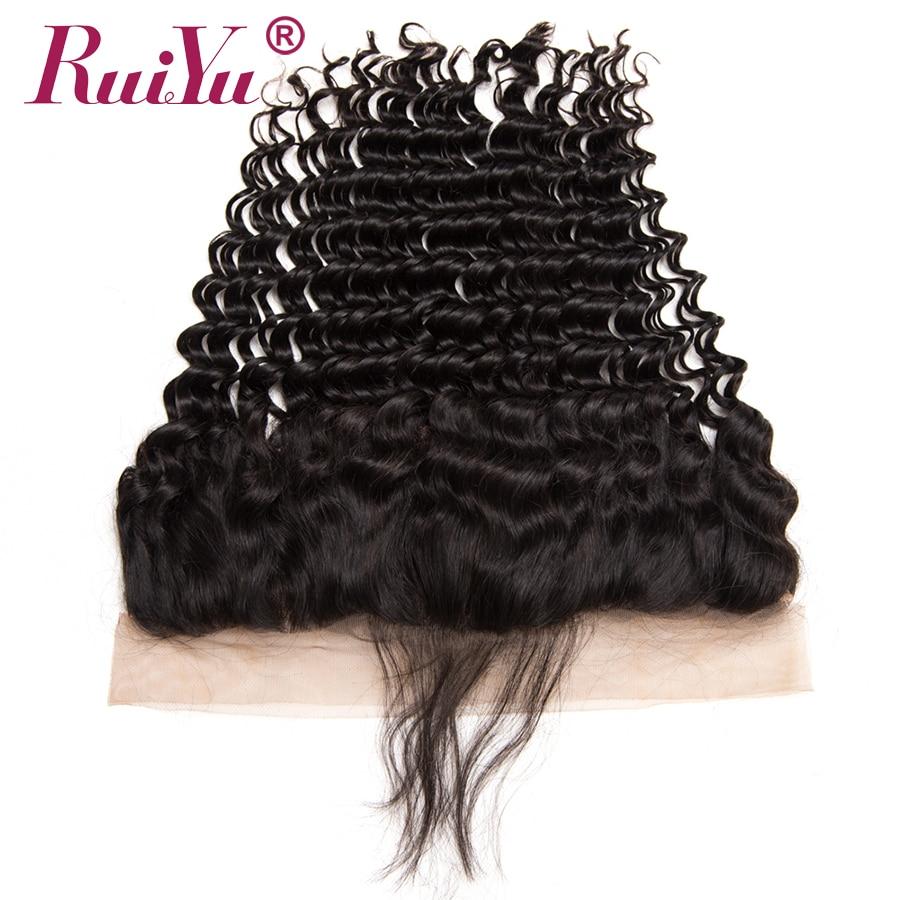 RUIYU Rambut Brazil dalam menenun Penutupan 13x4 Telinga Untuk - Rambut manusia (untuk hitam) - Foto 3
