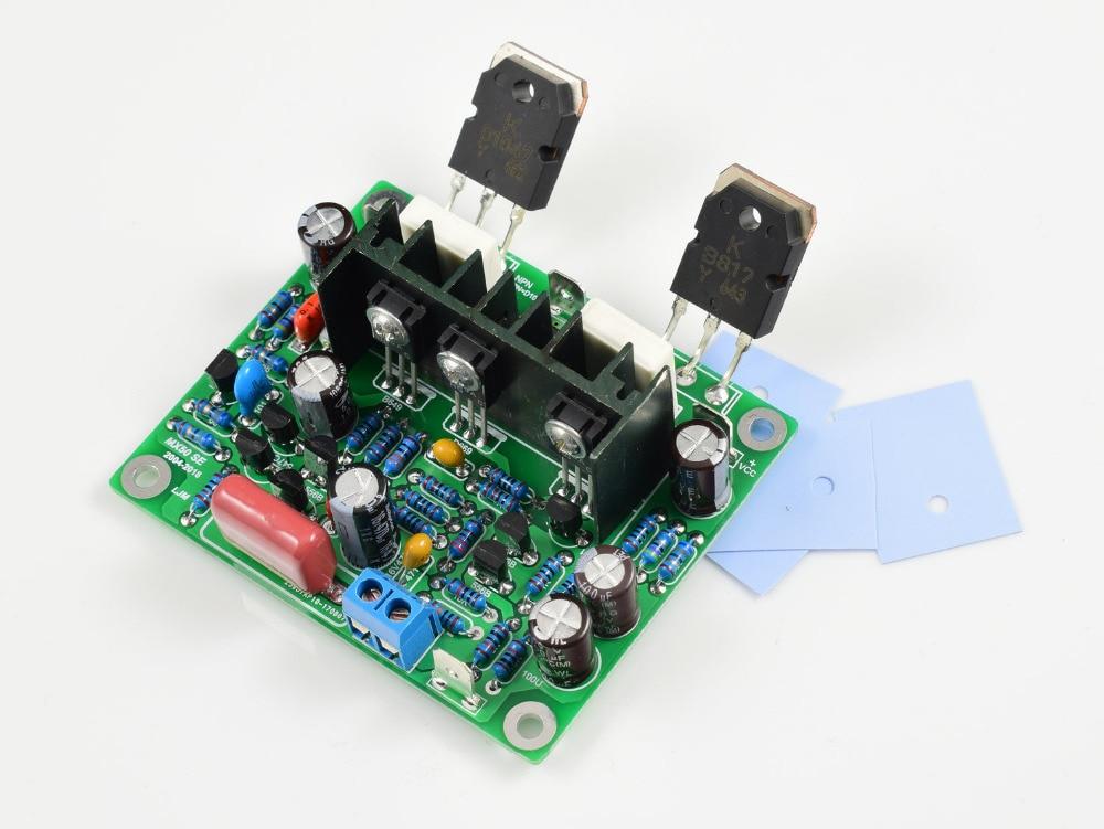 Kits diy placa de amplificadores de áudio, 2 peças mx50 se 100wx2 dual canais
