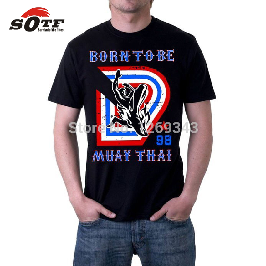 SOTF Free Shipping Shirt Muay Thai Short Sleeve Shirt T-shirt Male King Clothes