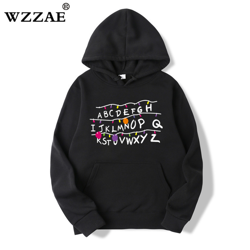 18 Trendy Faces Stranger Things Hooded Mens Hoodies and Sweatshirts Oversized for Autumn with Hip Hop Winter Hoodies Men Brand 13