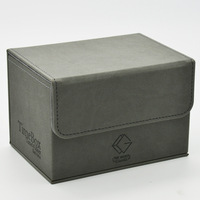 Time Walker Hand Made Genuine Leather EDH Cards Box FUN BOX PLUS Double Cabinet Deck Case