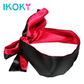 IKOKY Sex Eye Mask Blindfold SM Bondage Flirting Teasing Erotic Toys Red with Black Sex Toys for Couple Role Play Adult Games