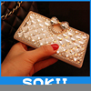for3D Lovely Bling Crystal Diamonds bow PU leather wallet case cover for LG K10 F670 K410 K420N Luxury fashion phone cases