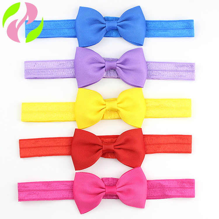 1pcs Cute kids Small Hair Bow Tie Headband Grosgrains Ribbon Bow Elastic Hair Bands Girl Children Apparel Accessories