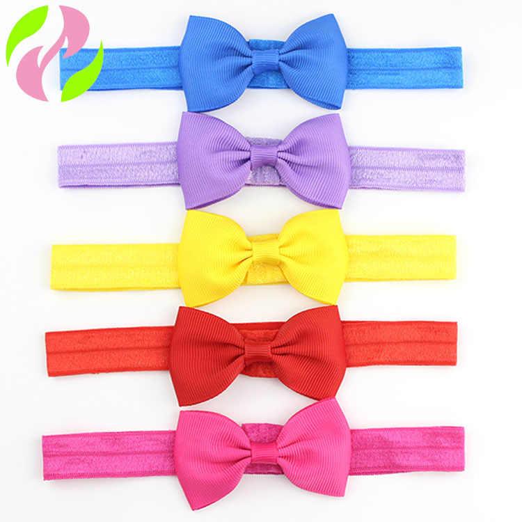 1 pcs เด็กน่ารักขนาดเล็ก Bow Tie Headband Grosgrains ริบบิ้นโบว์ผมวงยืดหยุ่นผมเด็กอุปกรณ์เครื่องแต่งกาย