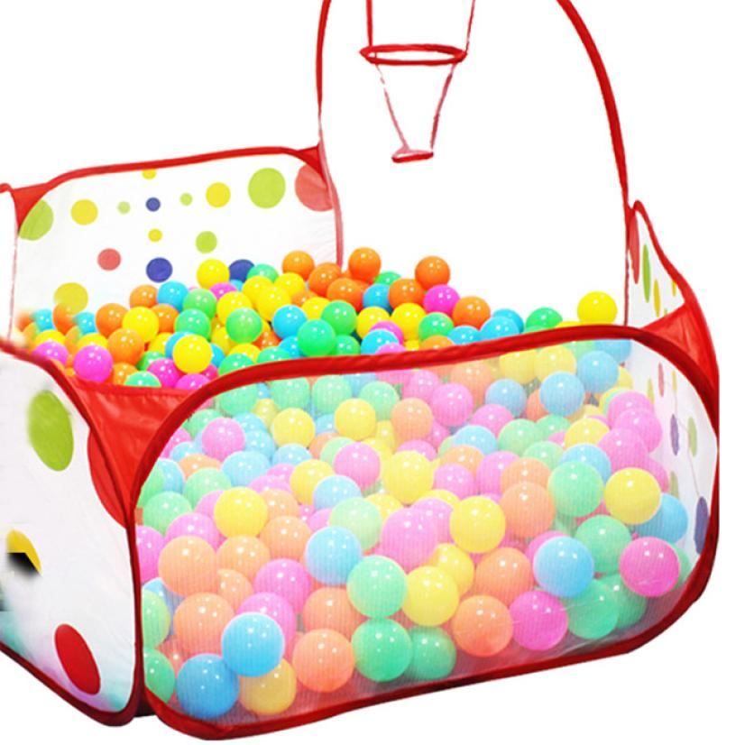 snowshine3 YLW Pop up Hexagon Polka Dot Children Ball Play Pool Tent Carry Tote Toy table game