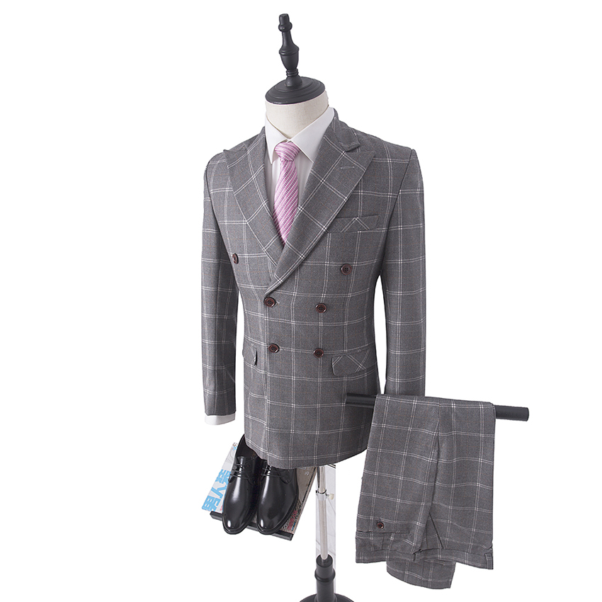 3 piece plaid suits tweed suits mens terno dos homens. Black Bedroom Furniture Sets. Home Design Ideas