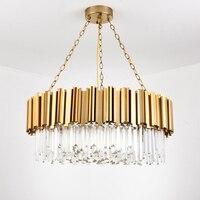 Modern Lighting Chandelier Luxurious Crystal Chandelier for Living Room Dining Room Gold Crystal Chandelier LED Lights Fedex