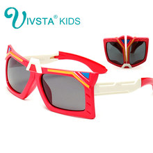 IVSTA transformer Silicone kids eyeglasses frame boys cool children sunglasses Polarized foldable blue party beach 880(China)