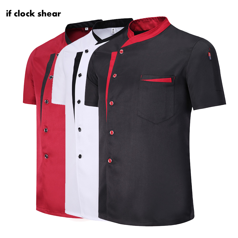 Hotel Wholesale Unisex Kitchen Chef Restaurant Uniform Shirt Breathable Double Breasted Dress Chef Jacket Chef Works Clothes