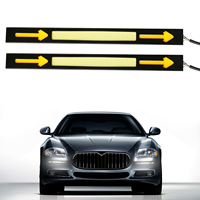 2pcs 6W DRL Daytime Running Light Waterproof Car COB LED Fog Lights With Turn Arrow High