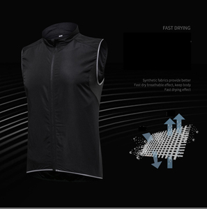 Image 4 - 2019 New Mens Cycling Vest Breathable Reflective Windbreaker Sleeveless Cycling Windproof Jersey Ropa Ciclismo Windstopper