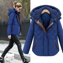 2017 Hot Winter Coat Women With Hoodied Casual Solid Color Slim Overcoat Comfortable Long Section  100% Cotton Overcoat