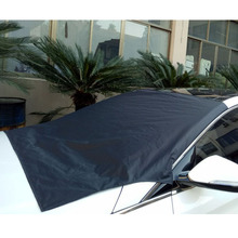 CHIZIYO Universal 210X120CM Polyester Car Snow Cover Magnet Windshield Sun Shield Ice Frost Front Protecter