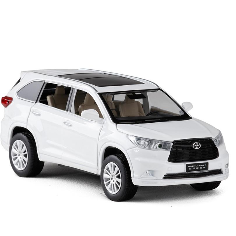 132 Highlander SUV modelo de simulación de juguete de aleación de coche Pull Back niños juguetes colección de licencia genuina regalo todoterreno vehículo los niños