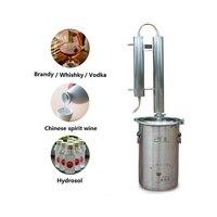 20L Moonshine Alcohol Distiller For Home Brew Making Vodka destilador of 304 Stainless Steel & Red Copper Alcohol Mashine