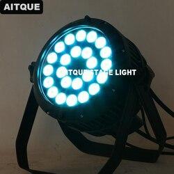 24 sztuk na zewnątrz led par 24x15 w led na zewnątrz dmx par można rgbwa 5 w 1 led światło halogenowe lampa PAR ip65 w Oświetlenie sceniczne od Lampy i oświetlenie na