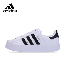 Original New Arrival Official Adidas SUPERSTAR BOLD W Breathable Women's Skateboarding Shoes Sneakers(China)
