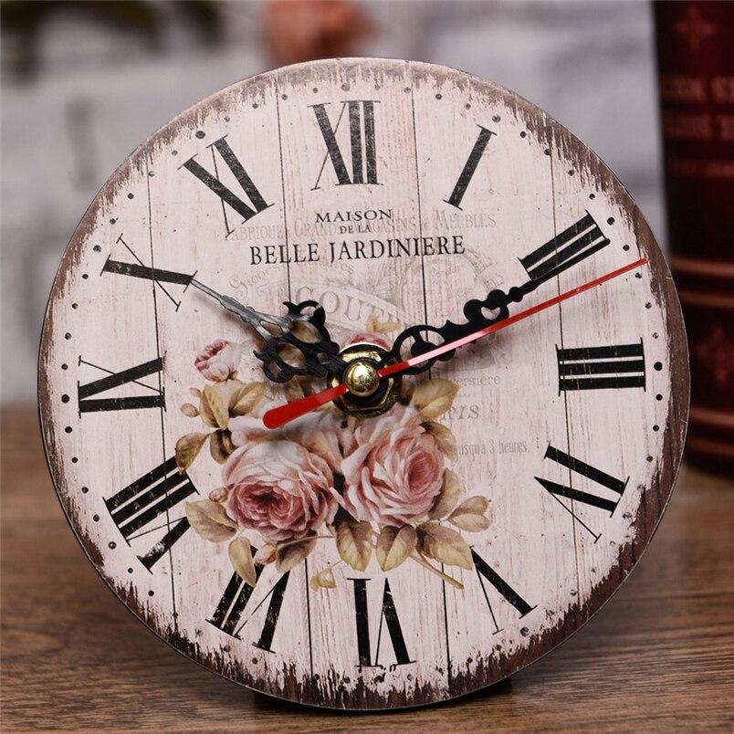 aimecor big wall clock antique wall clock vintage mdf wooden wall clock horloge home decoration