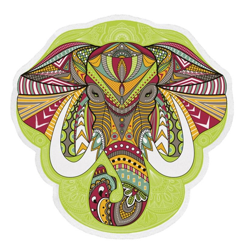 1pcs Hot Sale Creative Wall Hanging Mandala Mandala Blanket Elephant Tapestry Travel Summer Home Decoration Approx 150*150cm