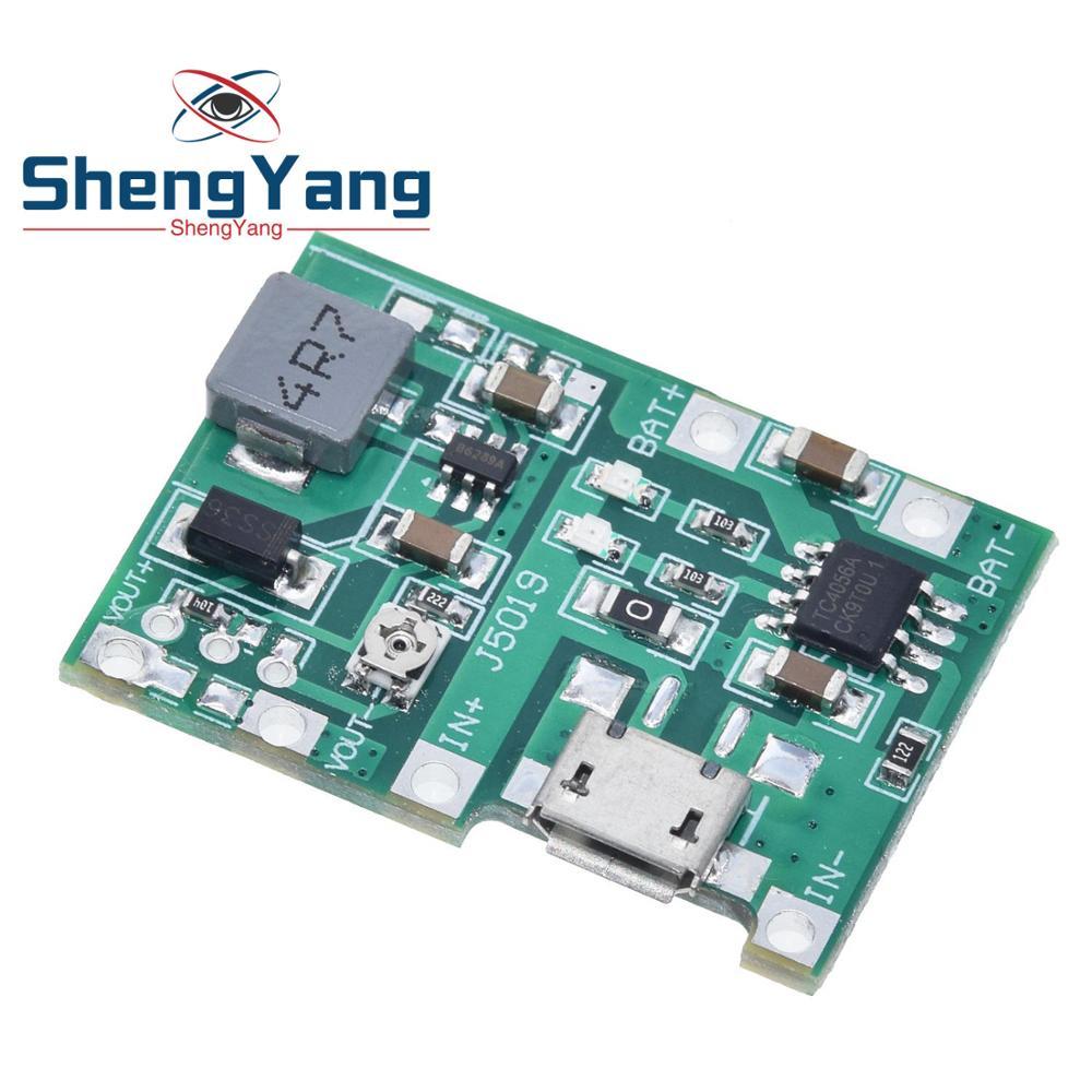 Шэньян новый литий-ионный аккумулятор для 18650 3,7 V 4,2 V Батарея Зарядное устройство доска DC-DC импульсный Повышающий Модуль TP4056 DIY Kit Запчасти