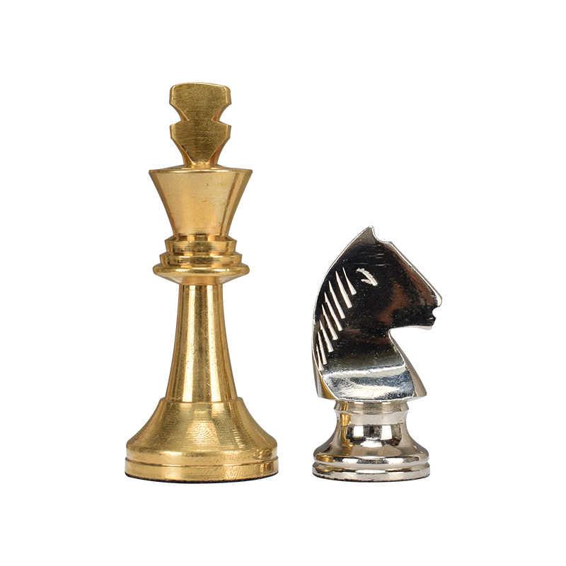 Высокое качество горячие классические цинкового сплава штук шахматы деревянный журнальный стол шаблон Профессиональный Шахматный набор традиционные Семейные настольные игры