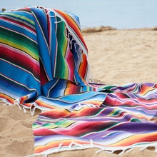 Cotton Mexican Indian Handmade National Wind Beach Blanket Rainbow Blanket Home Tapestry Beach Mat Picnic Mat home practical fashion table flag beach towel mexican style blanket picnic blanket handmade striped tablecloth
