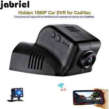Jabriel wifi 1080P dash cam car dvr hidden rearview camera car driving recorder dual lens for 2015 2016 2017 2018 Cadillac XTS