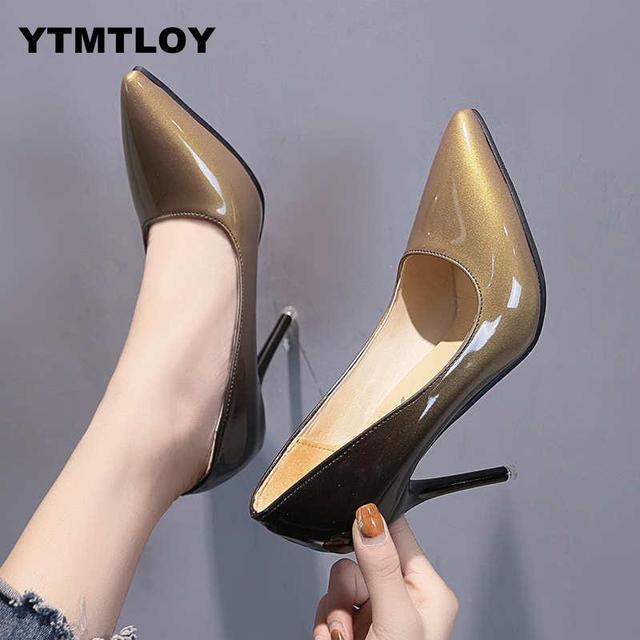 Woman Plus Size 33-48 Pumps Leopard Shallow Party Stiletto High Heels Shoes