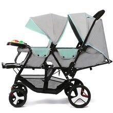 Детская коляска для близнецов, легкая складная детская коляска для путешествий, двойная коляска, коляска, коляска для детей 1 м~ 4 лет