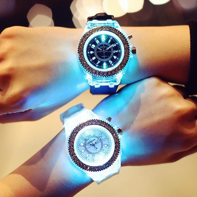 Couples Watch Illuminated lighting Quartz Watch Mens Ladies casual Fashion Sport