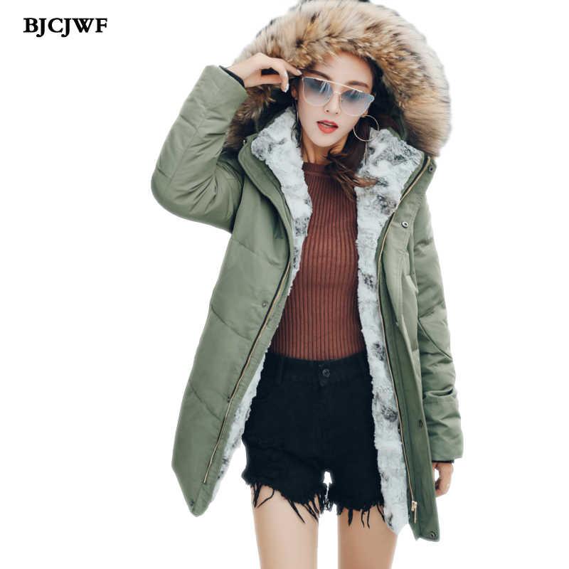 e9ce84890 BJCJWF New winter down jacket women's High quality Raccoon fur ...
