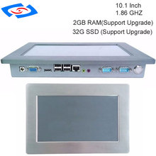 100% ดีทดสอบ 10.1 นิ้ว fanless หน้าจอสัมผัส Industrial Panel PC 1 xSIM 2 xMini PCIE อุปกรณ์เสริม WIFI & โมดูล 3G