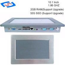 100% Ben Testato Al 10.1 Pollici fanless Touch Screen Panel PC Industriale Con 1 xSIM 2 xMini PCIE Opzionale WIFI & 3G Modulo