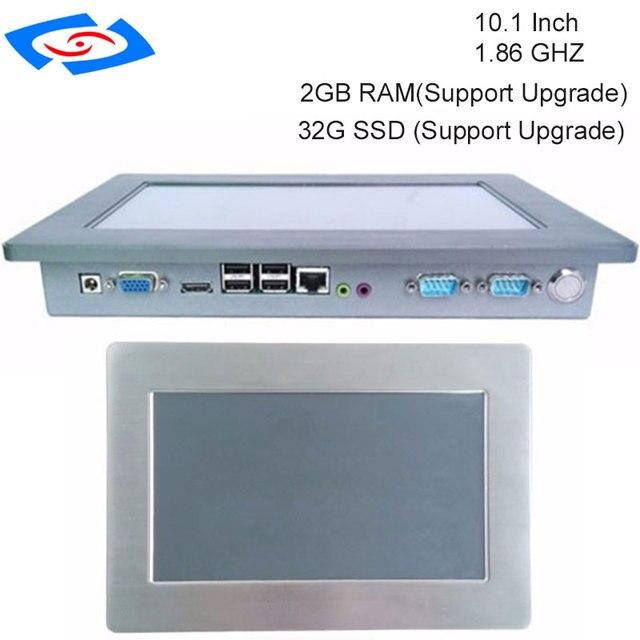 100% Cũng Được Thử Nghiệm không quạt 10.1 Inch Màn Hình Cảm Ứng Công Nghiệp Panel PC Với 1 xSIM 2 xMini PCIE WIFI Tùy Chọn & 3G Module