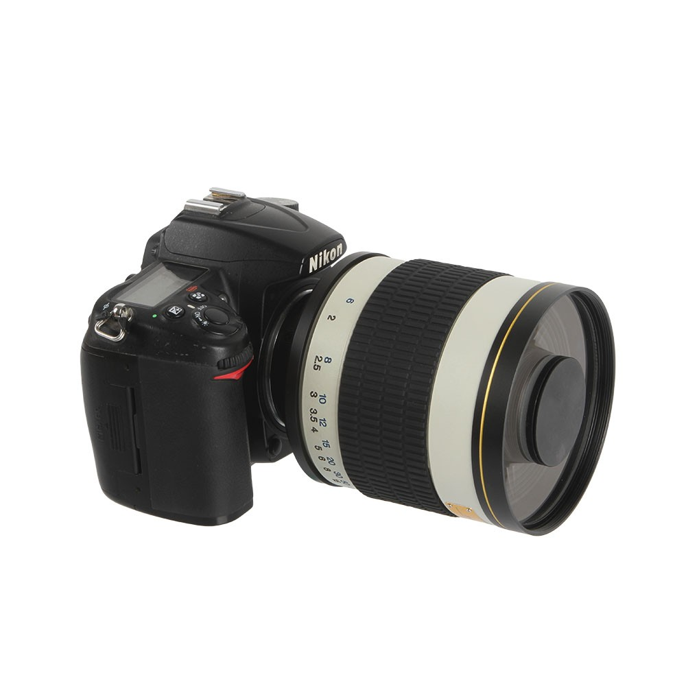 500mm F/6.3 Telephoto Mirror Lens + T2 Mount Adapter Ring for Canon Nikon Pentax Sony Olympus DSLR 9