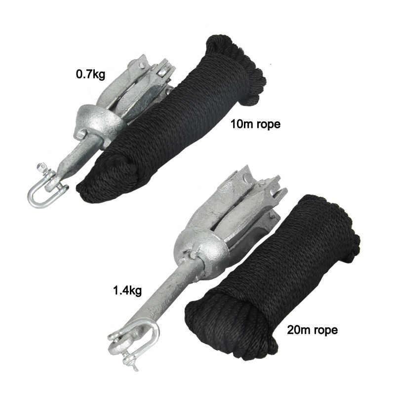Белый черный цвет полипропиленовое волокно сильный канат для якоря безопасности канат 6 мм 8 мм 10 мм, 10 м 20 м 30 м 40 м в длину