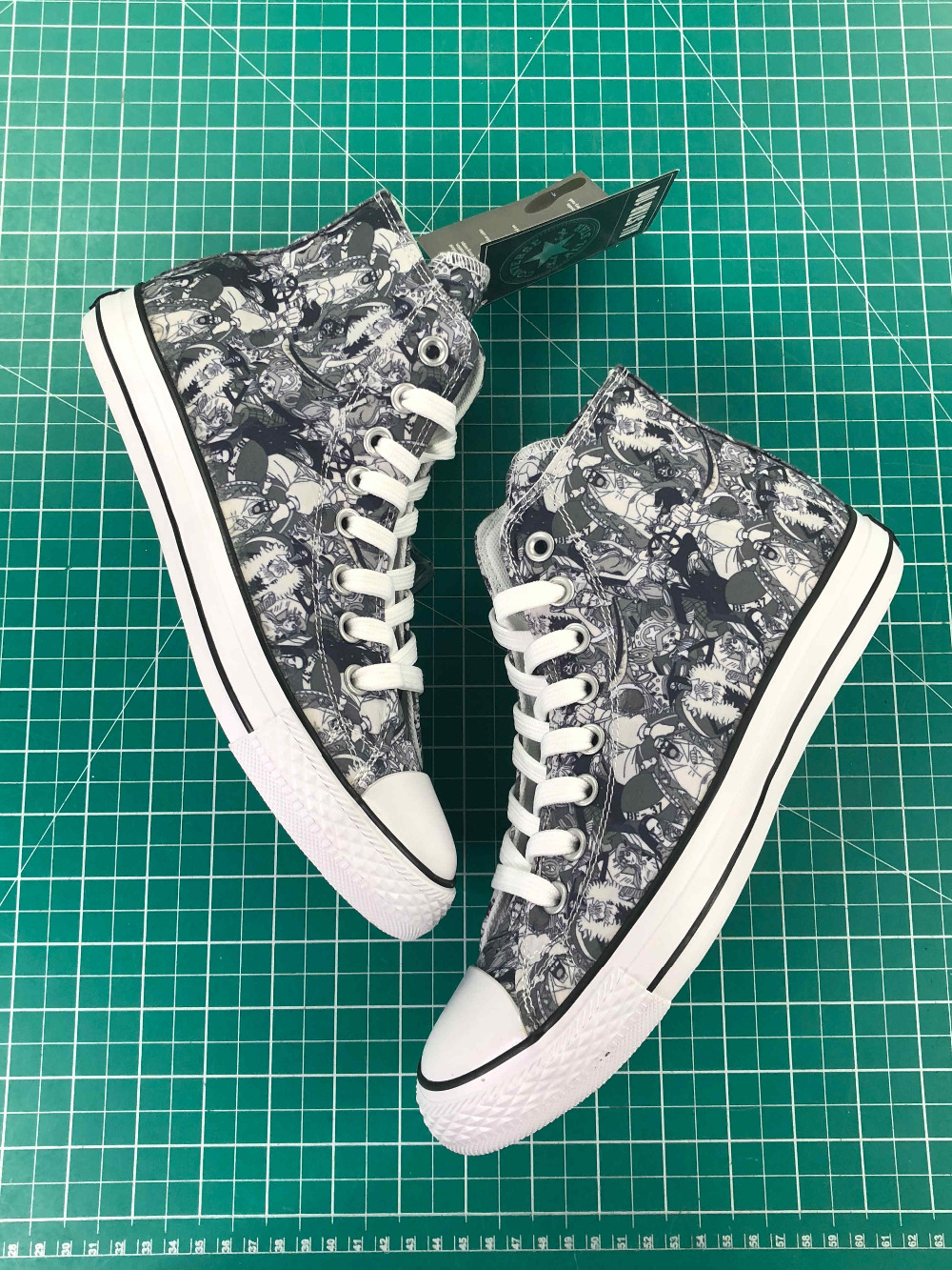 цены High Top Converse All Star Men Women Shoes Anime The Prince of Tennis Design Hand Painted Shoes Man Woman Sneakers