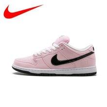 3958b7c2 Nike Dunk SB Elite Pink Box transpirable Original novedad oficial mujeres Skateboarding  zapatillas deportivas zapatillas