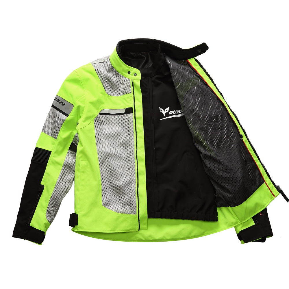 Brand New DUHAN Summer Motorcycle Back and Elbow Protection Jacket Motocross Breathable MOTO Mesh for Clothing Men and Women duhan motorcycle jacket waterproof moto jacket men s motocross clothing motorcycle suit with elbow shoulder back ce protector