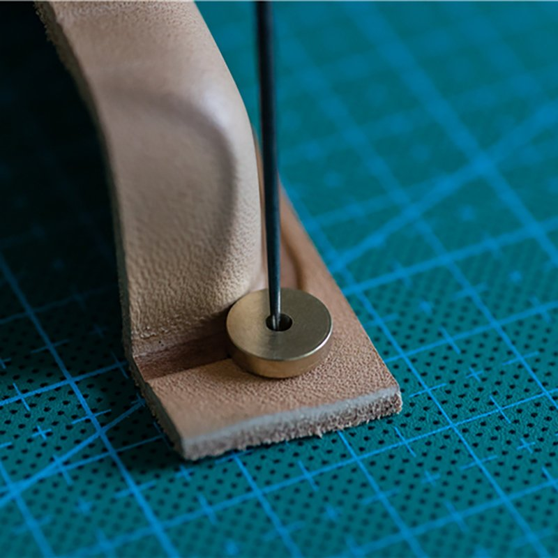 6pcs/set Foot Circular Margins Cutting Spacer Disc Brass Leathercraft Leather Tool Hardware