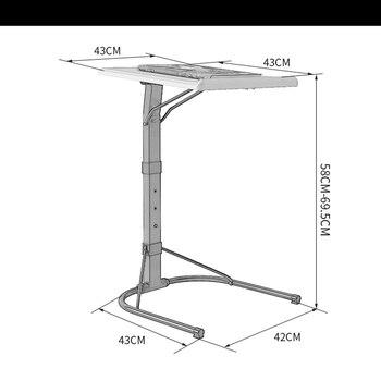 Foldable Computer Table Adjustable 1